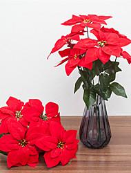 Недорогие -Искусственные Цветы 1 Филиал Классический европейский Пуансеттия Букеты на стол