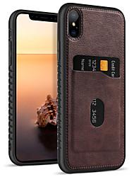 Недорогие -BENTOBEN Кейс для Назначение Apple iPhone XR / iPhone XS Max Кошелек / Бумажник для карт / Защита от удара Чехол Однотонный Мягкий Кожа PU / ТПУ для iPhone XR / iPhone XS Max