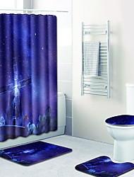 Недорогие -1 комплект Modern Коврики для ванны Пластиковые & Металл / 100 г / м2 полиэфирный стреч-трикотаж Геометрический принт нерегулярный Ванная комната Легко очистить