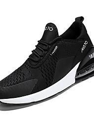 baratos -Homens Sapatos Confortáveis Com Transparência Outono Casual Tênis Caminhada Respirável Preto / Branco / Preto / Verde Escuro