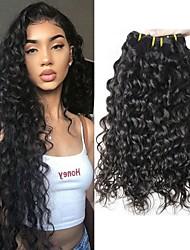 Недорогие -3 Связки Перуанские волосы Волнистые 8A Натуральные волосы Необработанные натуральные волосы Подарки Человека ткет Волосы Сувениры для чаепития 8-28 дюймовый Естественный цвет Ткет человеческих волос