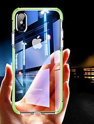 Недорогие -Кейс для Назначение Apple iPhone XR / iPhone XS Max Защита от удара / Прозрачный Кейс на заднюю панель Однотонный Мягкий ТПУ для iPhone XS / iPhone XR / iPhone XS Max