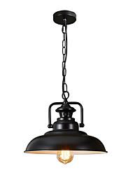Недорогие -северная Европа винтажная промышленность черный металлический оттенок подвесной светильник столовая гостиная кухня светильник 1-фары