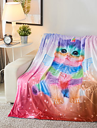 Недорогие -Супер мягкий, С принтом Галактика / 3D-печати Полиэфир / полиамид одеяла