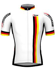 Недорогие -Kooplus Муж. С короткими рукавами Велокофты - Белый Флаги чемпион Велоспорт Джерси Верхняя часть, Дышащий Водонепроницаемаямолния 100% полиэстер