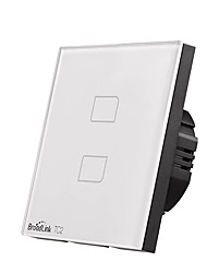 Недорогие -broadlink tc2 2 gang eu plug сенсорный выключатель интеллектуальная домашняя автоматизация беспроводная связь с Wi-Fi