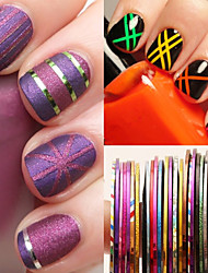 billige -30 pcs Folie Sticker Romantisk Serie / Kreativ Negle kunst Manicure Pedicure Nyt Design / Bedste kvalitet / Høj kvalitet, formaldehydfri Simple / Vintage Jul / Fest / aften / Daglig