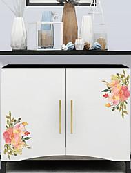 Недорогие -Наклейки для туалета - Простые наклейки Цветочные мотивы / ботанический Гостиная / Спальня / Ванная комната