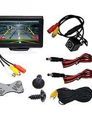 abordables -BYNCG WG4.3T-4LED 4.3 pouce TFT-LCD 480 TVL 480p Capteur CMOS couleur 1/4 pouces Câblé 120 Degrés 1 pcs 120 ° 4.3 pouce Caméra de recul / Moniteur d'inversion de voiture / Kit de vue arrière de
