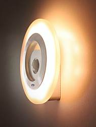 Недорогие -YWXLIGHT® 1шт LED Night Light Белый / Желтый Датчик человеческого тела / Гардероб