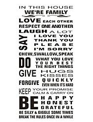 Недорогие -Декоративные наклейки на стены - Стикеры стикеров Words & Quotes Персонажи Гостиная / В помещении