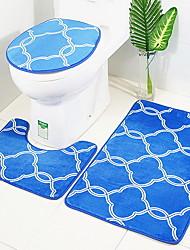 abordables -3 Pièces Moderne Tapis Anti-Dérapants Polyester Elastique Tissé 100g / m2 Créatif Rectangle Salle de Bain Mignon