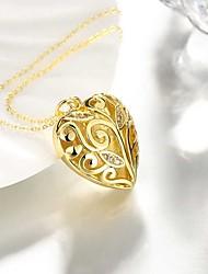 Недорогие -Жен. Ожерелья с подвесками - Серебрянное покрытие, Позолота Сердце Милая, Мода Сердце, Милый Золотой, Серебряный 50 cm Ожерелье Бижутерия 1шт Назначение Повседневные, Офис