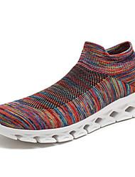 Недорогие -Жен. Комфортная обувь Трикотаж Осень На каждый день Спортивная обувь Беговая обувь На плоской подошве Черный / Серый / Красный