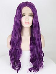 voordelige -Pruik Lace Front Synthetisch Haar Golvend / Los golvend Paars Middelste stuk Paars 180% Human Hair Density Synthetisch haar 18-26 inch(es) Dames Zacht / Verstelbaar / Hittebestendig Paars Pruik Lang