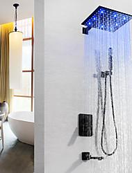 Недорогие -Смеситель для душа / Ванная раковина кран - Современный Окрашенные отделки На стену Медный клапан Bath Shower Mixer Taps / Латунь / Одной ручкой четыре отверстия