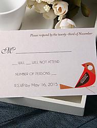 baratos -Cartão Raso Convites de casamento 20 - Cartões de resposta Tema de Fadas Papel Pérola