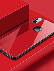 Недорогие -Кейс для Назначение Apple iPhone XR / iPhone XS Max Защита от удара Кейс на заднюю панель Однотонный Твердый Закаленное стекло для iPhone XS / iPhone XR / iPhone XS Max