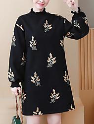Недорогие -женщины выходят свободно сменное платье выше шеи экипажа