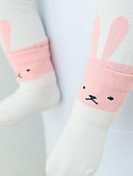 Недорогие -Дети (1-4 лет) Универсальные Активный Однотонный Хлопок Белье / носки Белый