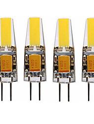 Недорогие -SENCART 4шт 4 W 350 lm G4 Двухштырьковые LED лампы T 1 Светодиодные бусины COB Декоративная Тёплый белый / Белый 12 V