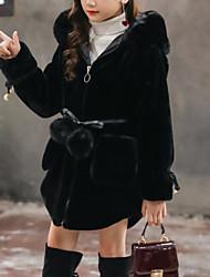 tanie -Dzieci Dla dziewczynek Solidne kolory Długi rękaw Kurtka / płaszcz