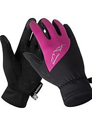 Недорогие -Спортивные перчатки Перчатки для велосипедистов Перчатки для сенсорного экрана Водонепроницаемость Дышащий Сохраняет тепло Полный палец Перчатки для тач-скрина Холодная погода Зима