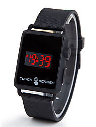 Недорогие -Муж. электронные часы Цифровой 30 m ЖК экран силиконовый Группа Цифровой Мода Черный - Лиловый Красный Зеленый