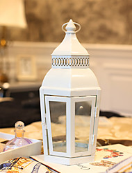 Недорогие -Модерн / Европейский стиль Стекло / Железо Подсвечники Ручная работа / На одну свечу / Молитвенный 1шт, Свеча / подсвечник