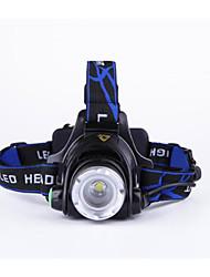 tanie Reflektory-Czołówki Przednia lampka rowerowa LED LED 1600 lm 3 tryb oświetlenia z bateriami i ładowarką Powiększenie, Wodoodporny, Regulacja promienia Kemping / turystyka / eksploracja jaskiń, Do użytku
