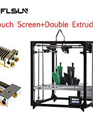 baratos -Kit de impressora 3d flsun-f5 diy grande tamanho de impressão 260 * 260 * 350mm dual tela de toque extrusora wi-fi apoio auto nível cama aquecida