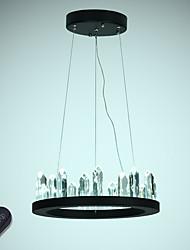 Недорогие -VALLKIN Круглый Люстры и лампы Рассеянное освещение Окрашенные отделки Металл Хрусталь, Регулируется 110-120Вольт / 220-240Вольт Диммируемый с дистанционным управлением
