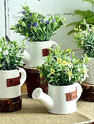 hesapli -Yapay Çiçekler 1 şube Klasik / Tek minimalist tarzı / Pastoral Stil Bitkiler / Vase Masaüstü Çiçeği
