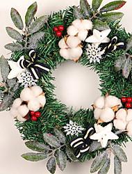 baratos -Guirlandas Natal Plástico Circular Novidades Decoração de Natal