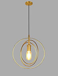 billiga -Cirkelrunda Hängande lampor Glödande Gyllene Metall AC100-240V Glödlampa inte inkluderad / SAA