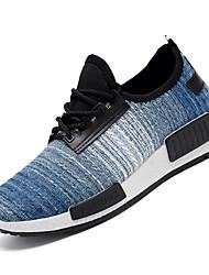 Недорогие -Муж. Комфортная обувь Сетка / Эластичная ткань Осень Спортивные Спортивная обувь Беговая обувь Нескользкий Контрастных цветов Серый / Синий