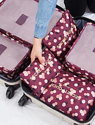 Недорогие -6 комплектов Органайзер для чемодана Компактность / Водонепроницаемость / Хранение в дороге Бюстгальтеры / Одежда Нейлон Путешествия