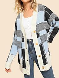 billige -Kvinders langærmet bomulds cardigan - solidfarvet