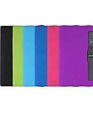 Недорогие -Кейс для Назначение Lenovo Ленова Йога Tab 3 Pro / Вкладка Lenovo Yoga Tab 3 Plus 10.1 (YT-X703) Защита от удара / Ультратонкий Чехол Однотонный Мягкий силикагель