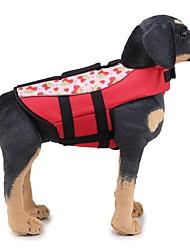 Недорогие -Собаки Спасательные жилеты Одежда для собак Однотонный / Классика Оранжевый / Зеленый Ткань Костюм Для домашних животных Универсальные Уникальный дизайн / Повседневный / Sporty