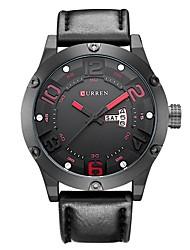 Недорогие -Муж. Спортивные часы Японский Японский кварц Кожа Черный / Серый 30 m Защита от влаги Календарь Повседневные часы Аналоговый На каждый день Мода - Черный Серый