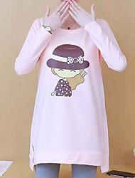 abordables -Tee-shirt pour femme en vrac - dessin animé col rond