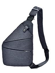 baratos -Homens Bolsas Náilon Sling sacos de ombro Ziper Azul / Vermelho / Cinzento Escuro