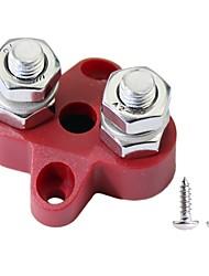 Недорогие -силовые клеммные колодки m8 двойная мощность штыря и блок заземления (красный)