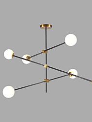 baratos -6-luz Sputnik Lustres Luz Ambiente Dourado Acabamentos Pintados Metal Vidro Criativo 110-120V / 220-240V / G9 / SAA