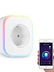 Недорогие -Розетка Диммируемая / Новый дизайн / Cool 1pack ABS + PC Подключаемый Активация звуком / WiFi-Enabled / ПРИЛОЖЕНИЕ Amazon Alexa Echo / Google Assistant / Умное устройство Xiaomi