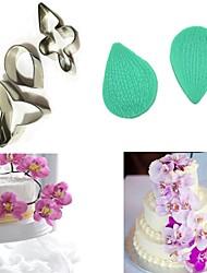 Недорогие -5шт бабочка орхидея лепесток лезвия цветок торты украшения