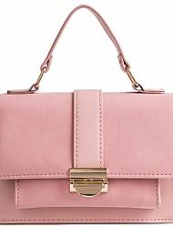 Недорогие -Жен. Мешки PU Сумка Сплошной цвет Розовый / Серый / Желтый