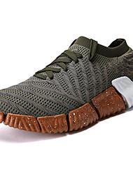 abordables -Homme Chaussures de confort Tricot Printemps Sportif / Décontracté Chaussures d'Athlétisme Course à Pied Massage Noir / Gris / Vert