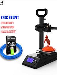 Недорогие -anet a9 3d printer легко монтируется с металлической пластиной + алюминиевая рамка с высокой точностью imprimante 3d diy kit с платой / abs